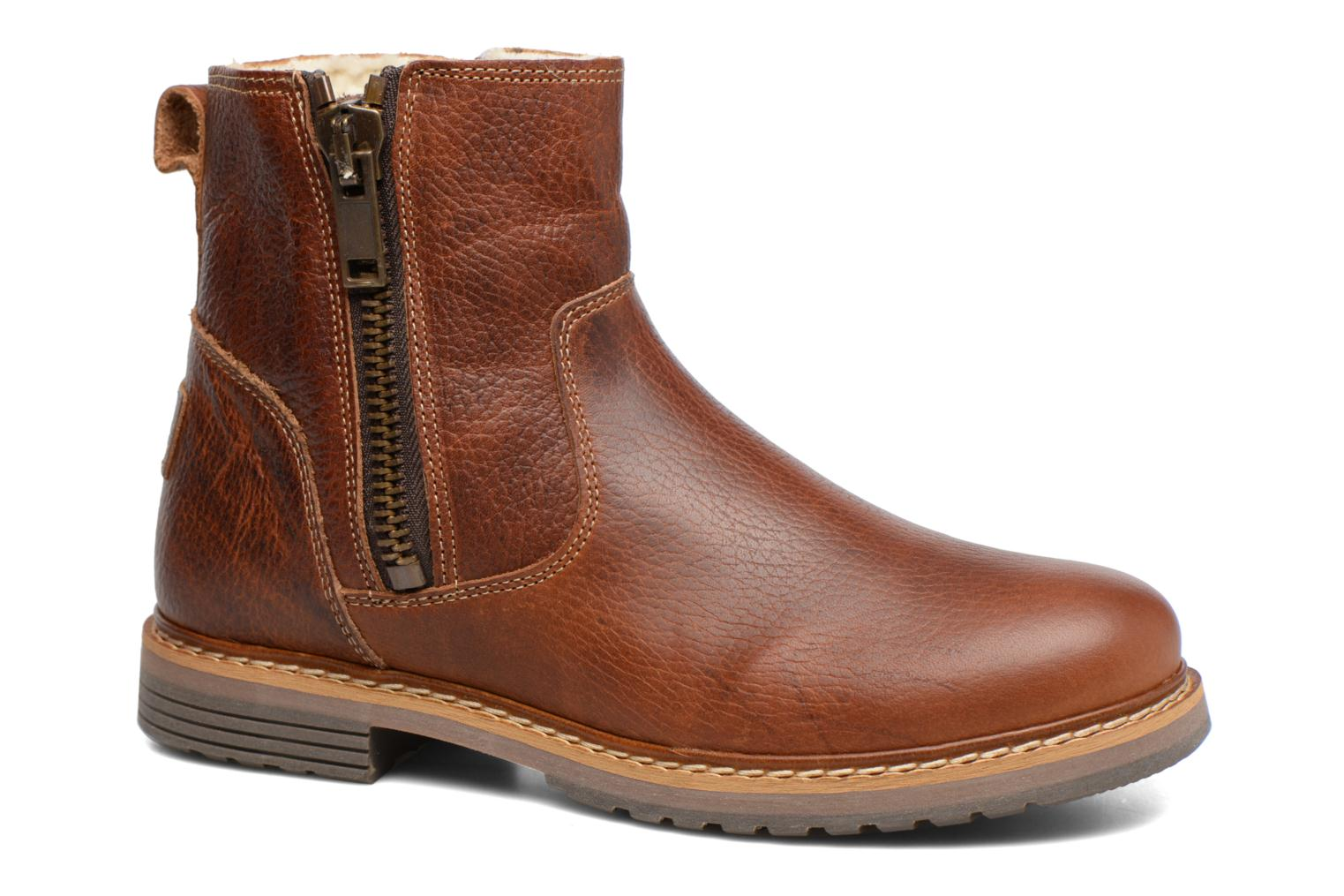 Ankle boots Bullboxer Manfor Brown detailed view/ Pair view