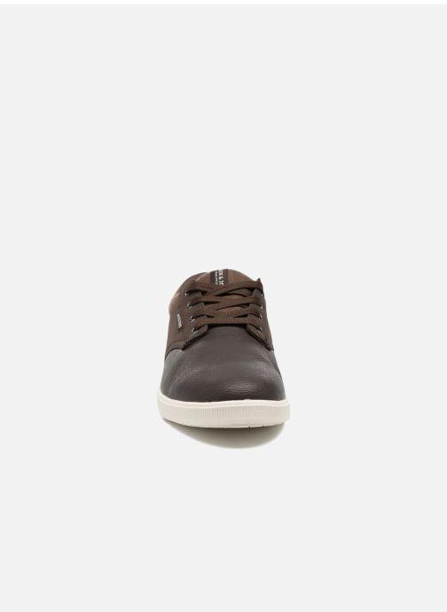 Baskets Jack & Jones JFWGASTON PU MIX Marron vue portées chaussures