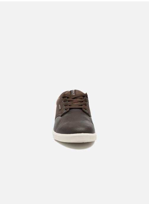 Baskets Jack & Jones JFWGASTON PU MIX Marron vue portées chaussures