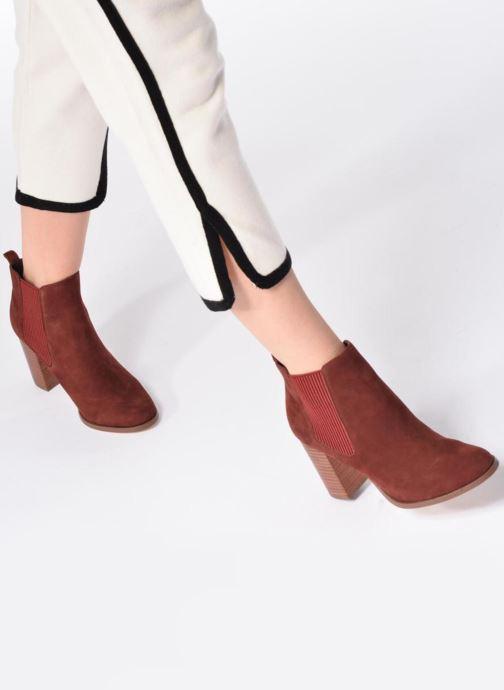 Bottines et boots COSMOPARIS JEDINI/VEL Rouge vue bas / vue portée sac