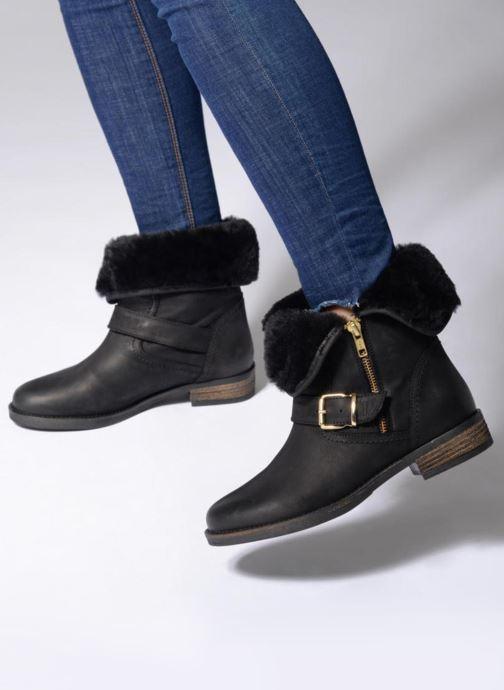 Bottines et boots COSMOPARIS FLOA/NUB Noir vue bas / vue portée sac