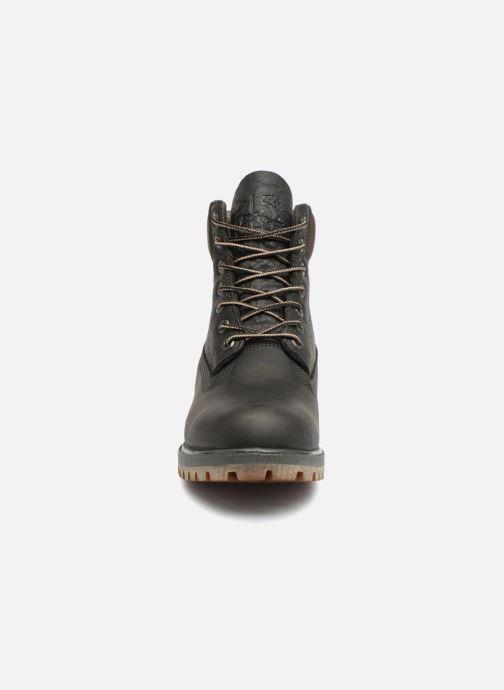 """Bottines et boots Timberland Heritage 6"""" Premium Gris vue portées chaussures"""