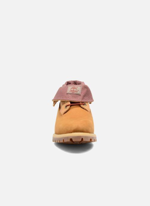 Bottines et boots Timberland Roll Top F/F AF Marron vue portées chaussures