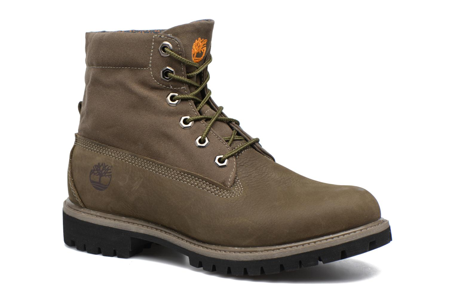 Bottines et boots Timberland Roll Top F/F AF Vert vue 3/4