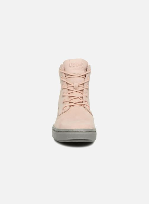 Baskets Timberland Londyn 6 Inch Rose vue portées chaussures