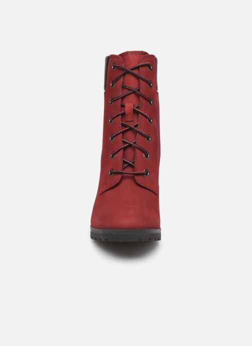 Stiefeletten & Boots Timberland Allington 6in Lace Up rot schuhe getragen
