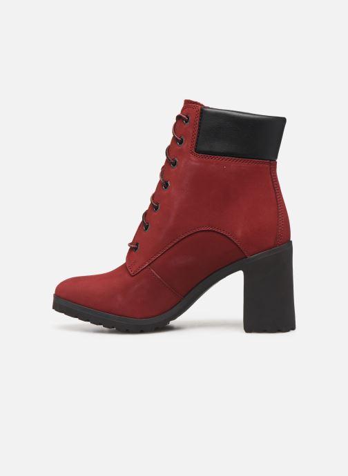 Boots en enkellaarsjes Timberland Allington 6in Lace Up Rood voorkant