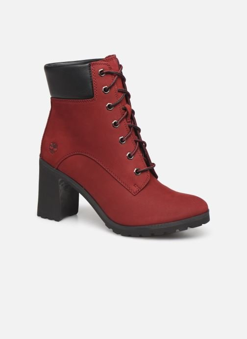 Bottines et boots Timberland Allington 6in Lace Up Rouge vue détail/paire