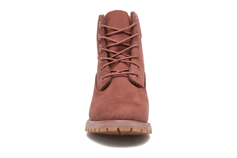 Bottines et boots Timberland 6in Premium Boot - W Bordeaux vue portées chaussures