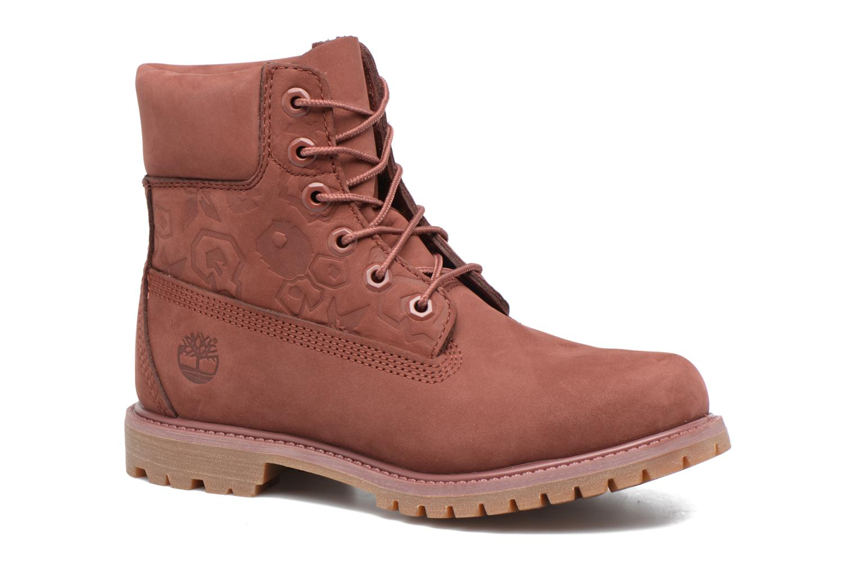 Bottines et boots Timberland 6in Premium Boot - W Bordeaux vue détail/paire