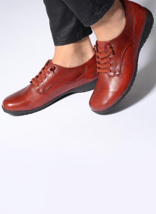 Zapatos con cordones Josef Seibel Naly 11 Rojo vista de abajo
