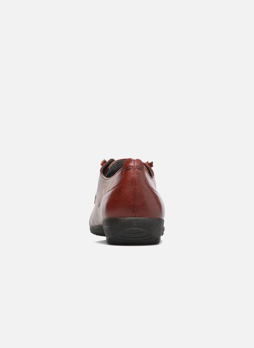 Zapatos con cordones Josef Seibel Naly 11 Rojo vista lateral derecha