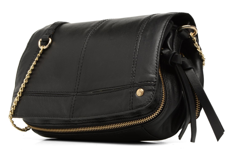 Sacs à main Pieces Jase Leather Crossbody Noir vue portées chaussures