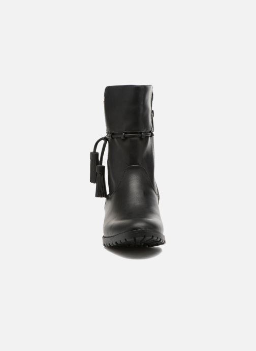 Bottes Les P'tites Bombes Gladys Noir vue portées chaussures
