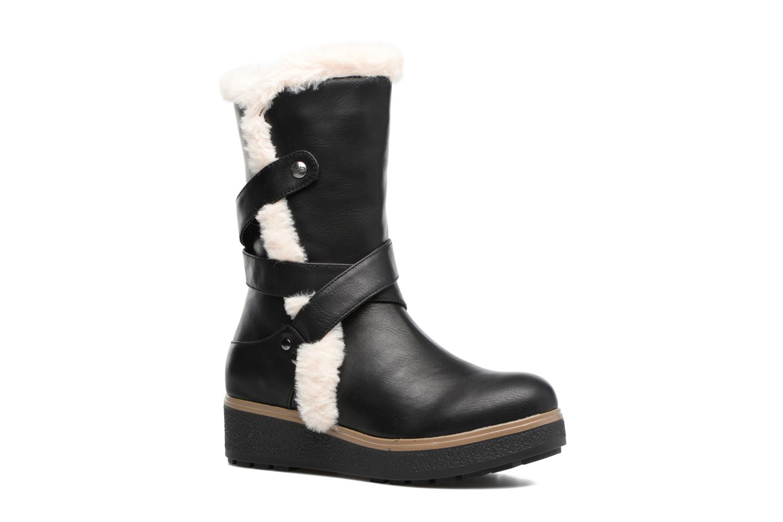 Boots & wellies Les P'tites Bombes Fabienne Black detailed view/ Pair view