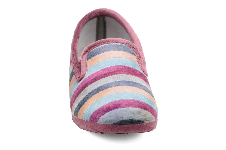 Chaussons La maison de l'espadrille Prune Violet vue portées chaussures