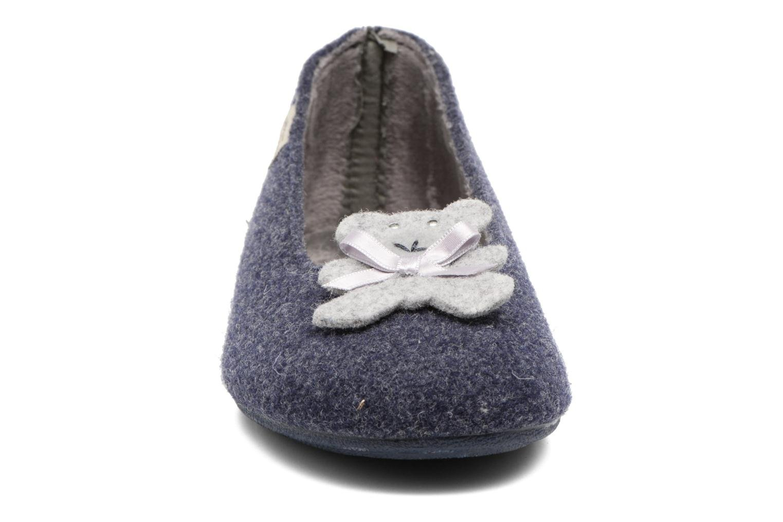 Chaussons La maison de l'espadrille Louna Bleu vue portées chaussures