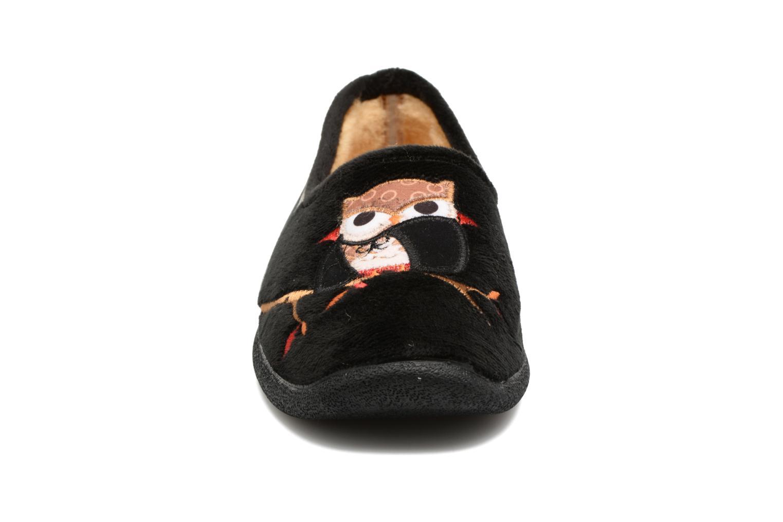 Chaussons La maison de l'espadrille Sophia Noir vue portées chaussures