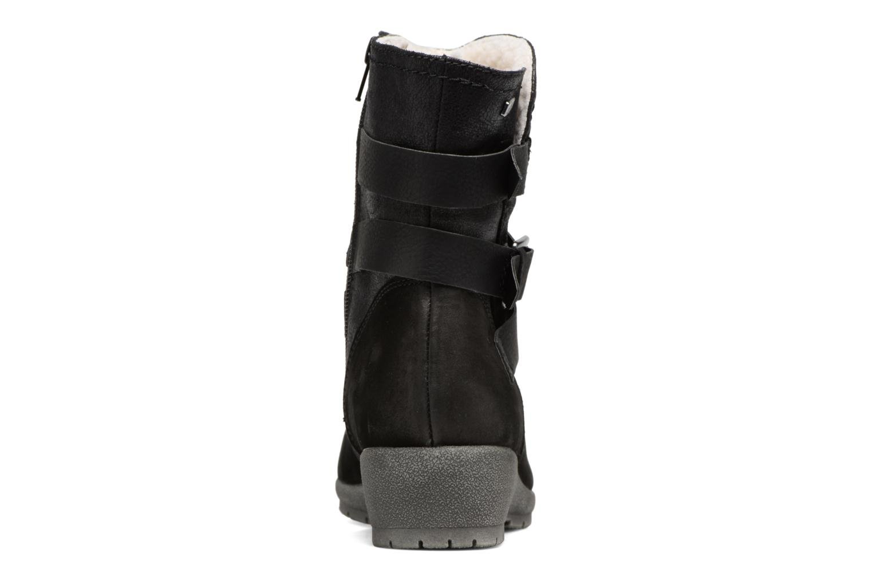 Botines  Jana shoes Ashley Negro vista lateral derecha