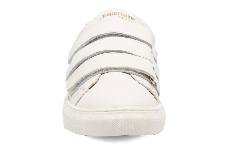 Baskets Les Tropéziennes par M Belarbi Limonade Blanc vue portées chaussures