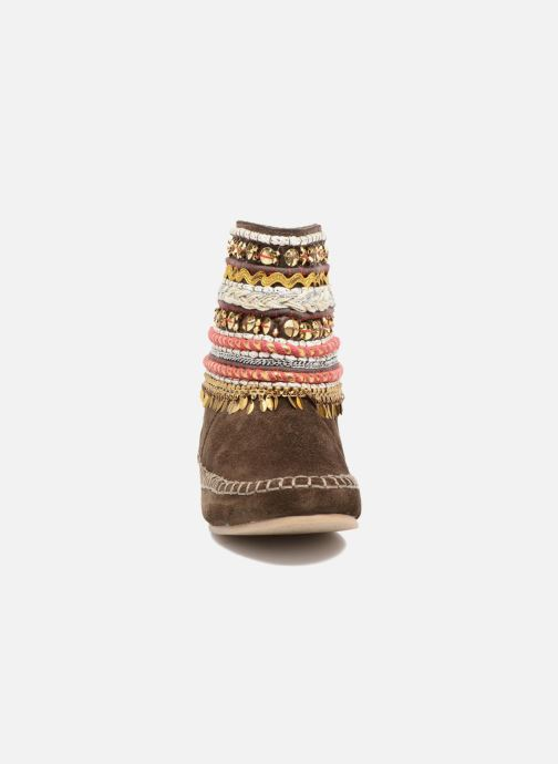 Ankle boots Les Tropéziennes par M Belarbi Kan Brown model view