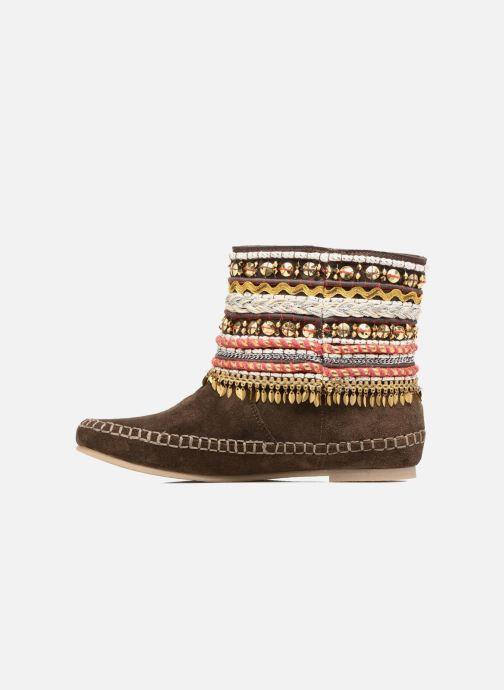Ankle boots Les Tropéziennes par M Belarbi Kan Brown front view