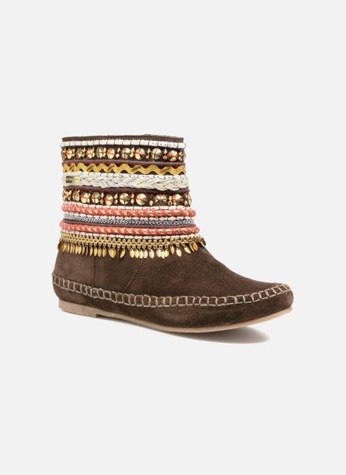 Ankle boots Les Tropéziennes par M Belarbi Kan Brown detailed view/ Pair view