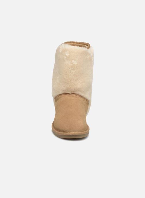 Bottes Les Tropéziennes par M Belarbi Chatel Beige vue portées chaussures