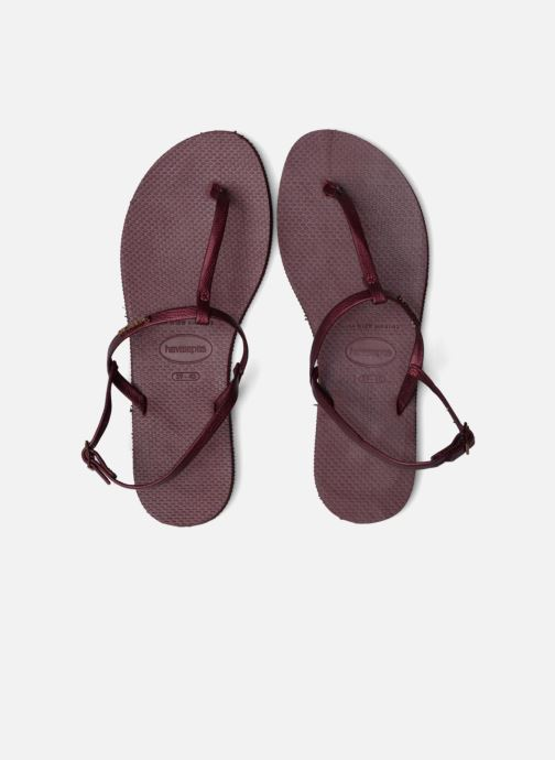 Sandali e scarpe aperte Havaianas You Riviera Bordò immagine 3/4