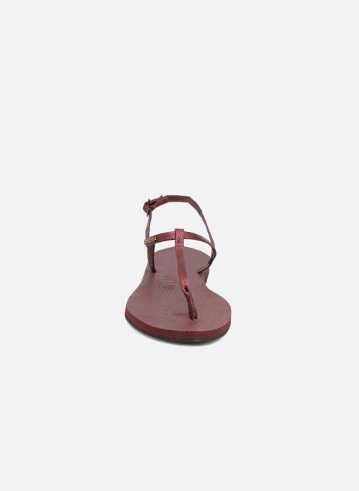 Sandali e scarpe aperte Havaianas You Riviera Bordò modello indossato