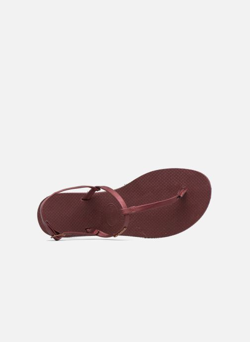 Sandali e scarpe aperte Havaianas You Riviera Bordò immagine sinistra
