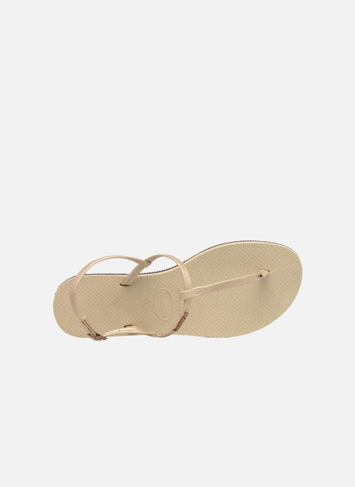 Sandali e scarpe aperte Havaianas You Riviera Beige immagine sinistra