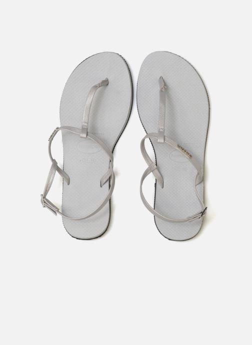 Sandales et nu-pieds Havaianas You Riviera Gris vue portées chaussures