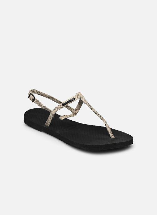 Sandales et nu-pieds Havaianas You Riviera Beige vue portées chaussures