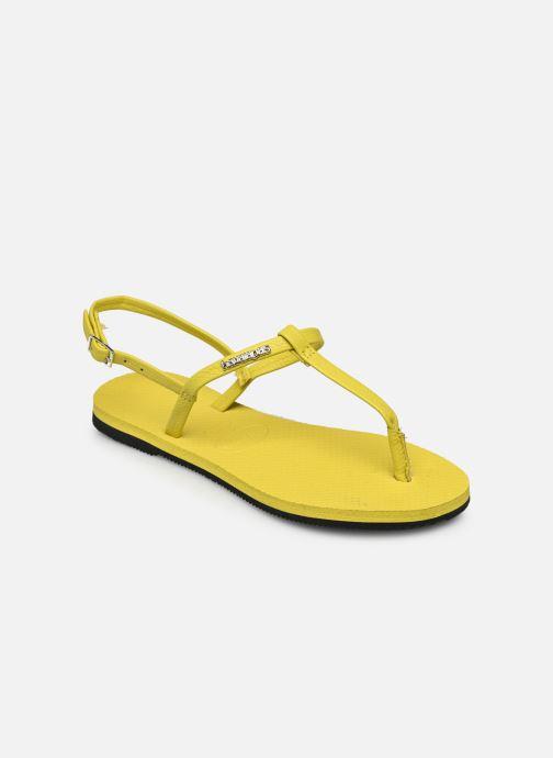 Sandales et nu-pieds Havaianas You Riviera Jaune vue portées chaussures