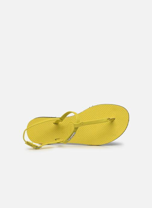Sandali e scarpe aperte Havaianas You Riviera Giallo immagine sinistra