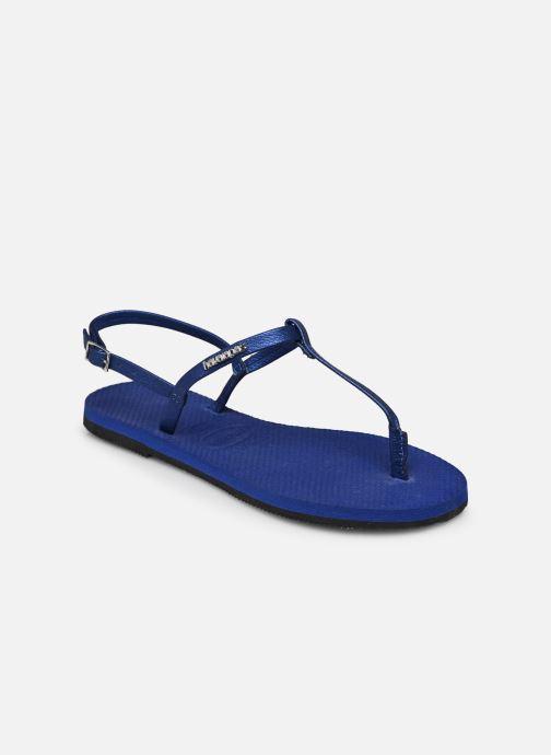 Sandali e scarpe aperte Havaianas You Riviera Azzurro modello indossato