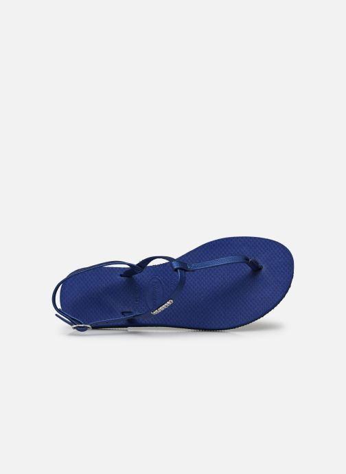 Sandali e scarpe aperte Havaianas You Riviera Azzurro immagine sinistra