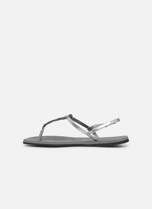 Sandales et nu-pieds Havaianas You Riviera Argent vue face