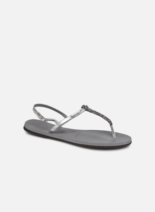 Sandals Havaianas You Riviera Silver detailed view/ Pair view