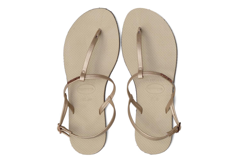 Sandals Havaianas You Riviera Beige 3/4 view