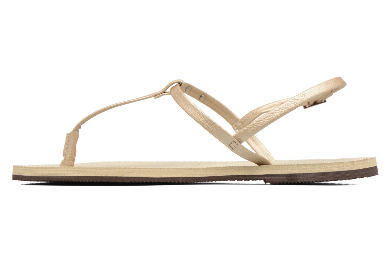 Sandals Havaianas You Riviera Beige front view