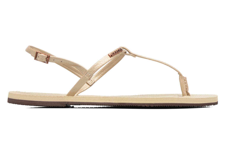 Sandales et nu-pieds Havaianas You Riviera Beige vue derrière