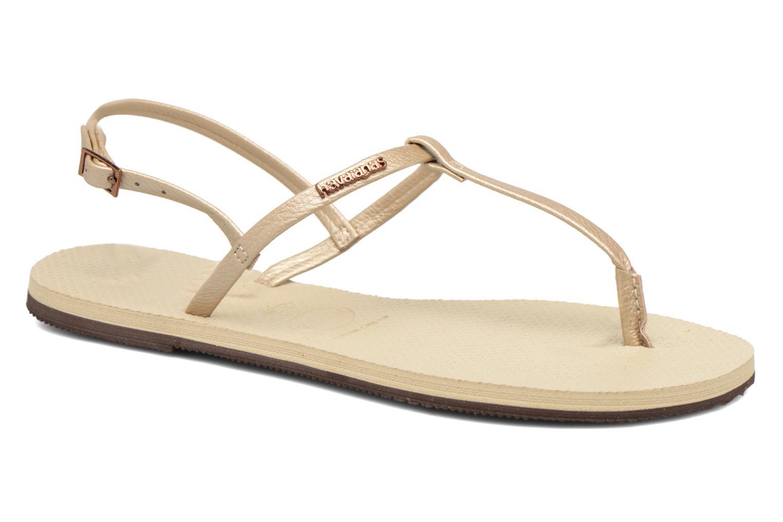 Sandales et nu-pieds Havaianas You Riviera Beige vue détail/paire
