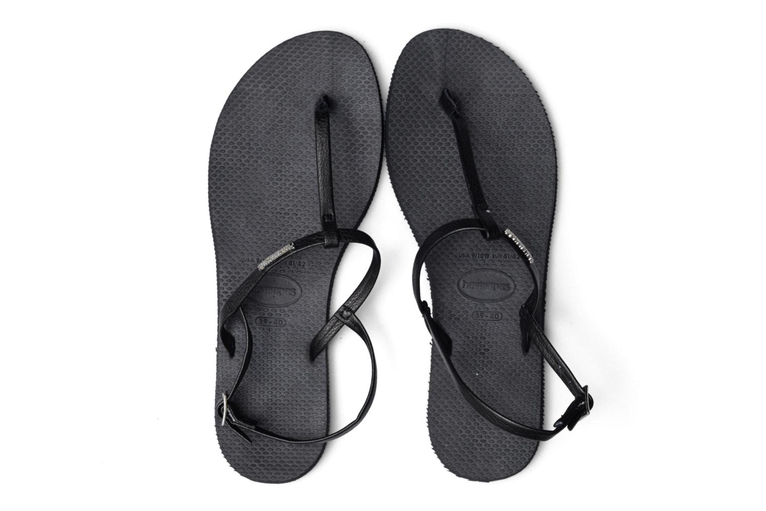 Sandals Havaianas You Riviera Black 3/4 view
