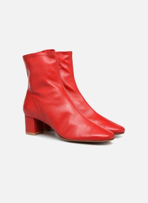 Bottines et boots BY FAR Sofia Rouge vue 3/4
