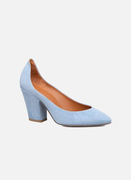 Høje hæle BY FAR Niki Pump Blå detaljeret billede af skoene