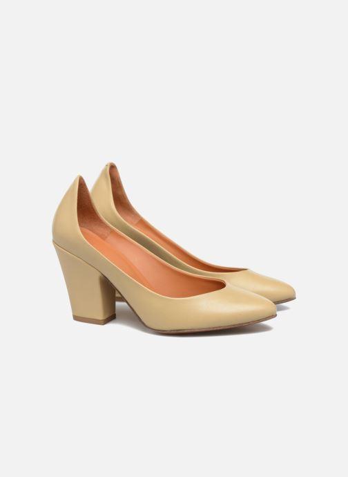 High heels BY FAR Niki Pump Beige 3/4 view