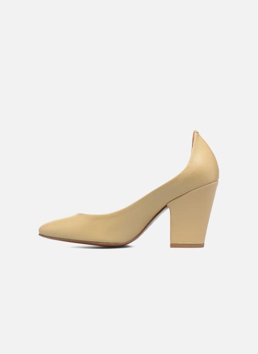 Zapatos de tacón BY FAR Niki Pump Beige vista de frente