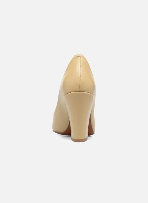 Zapatos de tacón BY FAR Niki Pump Beige vista lateral derecha